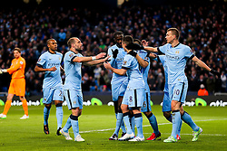Manchester City's Samir Nasri celebrates after scoring his sides second goal   - Photo mandatory by-line: Matt McNulty/JMP - Mobile: 07966 386802 - 21/02/2015 - SPORT - Football - Manchester - Etihad Stadium - Manchester City v Newcastle United - Barclays Premier League