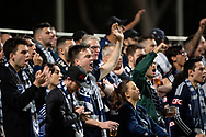 SYDNEY, AUSTRALIA - MAY 12: Melbourne Victory crowd at the Elimination Final of the Hyundai A-League Final Series soccer between Sydney FC and Melbourne Victory on May 12, 2019 at Netstrata Jubilee Stadium in Sydney, Australia. (Photo by Speed Media/Icon Sportswire)