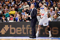 Real Madrid's coach Pablo Laso and Rudy Fernandez duringTurkish Airlines Euroleague match between Real Madrid and FC Barcelona Lassa at Wizink Center in Madrid, Spain. March 22, 2017. (ALTERPHOTOS/BorjaB.Hojas)
