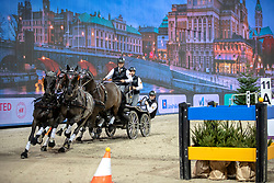 FEI World Cup Driving™ Stockholm181202 Friends Arena, Sweden Horse Show<br /> Edouard Simonet, BEL were on the 3:rd place in FEI Driving World Cup.<br /> Photo:FEI/ Roland Thunholm