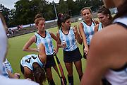 28.7.2015, EMG Berlin. Fieldhockey Argentina vs. Holland, first hockey game. Argentina timeout