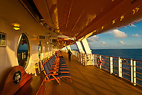 Aboard the new Disney Dream cruise ship sailing between Florida and the Bahamas.