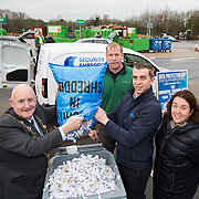 17.01.17<br /> A special event is taking place to allow businesses and householders throughout Limerick drop off confidential documents to be shredded free of charge.<br /> <br /> Pictured at the launch of the event at Mungret Recycling Centre were, Mayor of the City and County of Limerick, Cllr Kieran O'Hanlon, Terence Ryan, Mungret Recycling Centre, Albert Kelly, Security in Shredding and Sinead McDonnell, Environmental Awareness Officer with Limerick City and County Council.<br /> <br /> <br /> <br /> <br /> <br /> The one-day event is at the Mungret Recycling Centre on Saturday 28 January 2017 from 11.00am until 3.30pm.<br /> Limerick City and County Council in conjunction with Security in Shredding, a company that offers confidential document paper shredding services in Ireland, are facilitating the 'Free Shred Event' to mark European Data Protection Day 2017 and promote good waste management practices. Picture: Alan Place