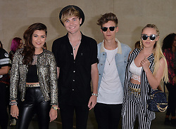 Betsy, Charlie, Mikey & Parisa of Only The Young at BBC Radio 1 in central London, UK. 06/08/2015<br />BYLINE MUST READ : GOTCHAIMAGES.COM<br /><br />Copyright by © Gotcha Images Ltd. All rights reserved.<br />Usage of this image is conditional upon the acceptance <br />of Gotcha Images Ltd, terms and conditions available at<br />www.gotchaimages.com