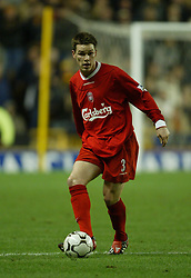WOLVERHAMPTON, ENGLAND - Wednesday, January 21st, 2004: Liverpool's Steve Finnan in action against Wolverhampton Wanderers during the Premiership match at Molineux. (Pic by David Rawcliffe/Propaganda)