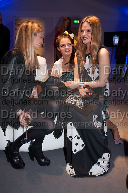 EMILY FRANKS; BIP LING; GEMMA GREGORY, The Vogue Festival 2012 in association with Vertu- cocktail party. Royal Geographical Society. Kensington Gore. London. SW7. 20 April 2012.