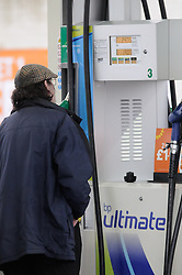 © under license to London News Pictures. 2011/01/14. As Petrol and diesel prices continue to rise people fill up at the pumps at a BP Connect garage in Orpington, Kent, UK. Picture credit should read Grant Falvey/LNP