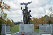 The Polish War Memorial at the National Memorial Arboretum, Croxall Road, Alrewas, Burton-On-Trent,  Staffordshire, on 29 October 2018. Picture by Mick Haynes.