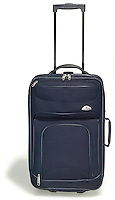 navy carry on suitcase
