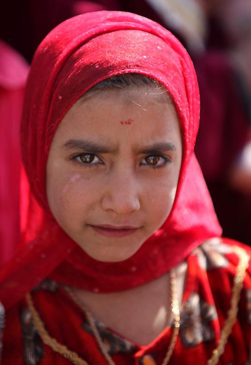 Marshland Arab girl in Rota Village, part of Rota Village in Basrah Province