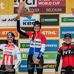 26-12-2019: Cycling: CX Worldcup: Heusden-Zolder: Lucinda Brand wins the worldcup race ahead of Ceylin Alvarado, Annemarie Worts ends up third