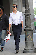 21.SEPTEMBER.2012. MADRID<br /> <br /> SUPERMODEL LINDA EVANGELISTA, ENJOYS HER STAY IN MADRID DONG SOME SHOPPING AND VISITING CONTEMPORANEAN ART MUSEUM, REINA DOÑA SOFIA. LINDA EVANGESLISTA TOOK SALMA HAYEK'S BILLIONAIRE HUSBAND FRANCOIS-HENRY PINAULT TO COURT DEMANDING  $46,000 A MONTH FOR THEIR SON'S CARE JUST FEW MONTHS AGO.<br /> <br /> BYLINE: EDBIMAGEARCHIVE.CO.UK<br /> <br /> *THIS IMAGE IS STRICTLY FOR UK NEWSPAPERS AND MAGAZINES ONLY*<br /> *FOR WORLD WIDE SALES AND WEB USE PLEASE CONTACT EDBIMAGEARCHIVE - 0208 954 5968*
