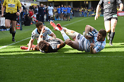 April 1, 2018 - Clermont Ferrand - Stade Marcel, France - Peter Betham (asm) vs Louis Depichot et Marc Andreu  (Credit Image: © Panoramic via ZUMA Press)