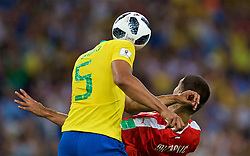 MOSCOW, RUSSIA - Wednesday, June 27, 2018: Brazil's Carlos Henrique Casemiro during the FIFA World Cup Russia 2018 Group E match between Serbia and Brazil at the Spartak Stadium. (Pic by David Rawcliffe/Propaganda)