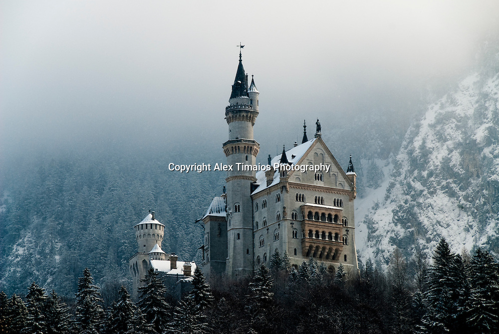 The famous castle of neuschwanstein in Fuessen, Germany