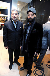 Left to right, The MAHARAJAH OF KAPURTHALA and JP SINGH at the MCM Christmas party held at their store at 5 Sloane Street, London on 26th November 2008.