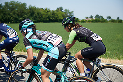 Rossella Ratto (ITA) in the bunch at Giro Rosa 2018 - Stage 4, a 109 km road race starting and finishing in Piacenza, Italy on July 9, 2018. Photo by Sean Robinson/velofocus.com