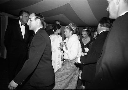 Le Bal des Petits Lits Blancs at Powerscourt, Co. Wicklow. Princess Grace, Eamon Andrews..04.07.1965