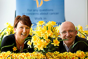 Repro Free: 22/08/2012 Cathriona Dempsey, Daffodil Centre Cancer information Service Nurse is pictured with RTE's John Murray as the Irish Cancer Society officially launch its Daffodil Centre at Tallaght Hospital, Dublin. The Daffodil Centre, which is run by Irish Cancer Society specialist cancer nurses and trained volunteers, is an information service on-site in the hospital, where people affected by or concerned about cancer can receive information and support. Pic Andres Poveda