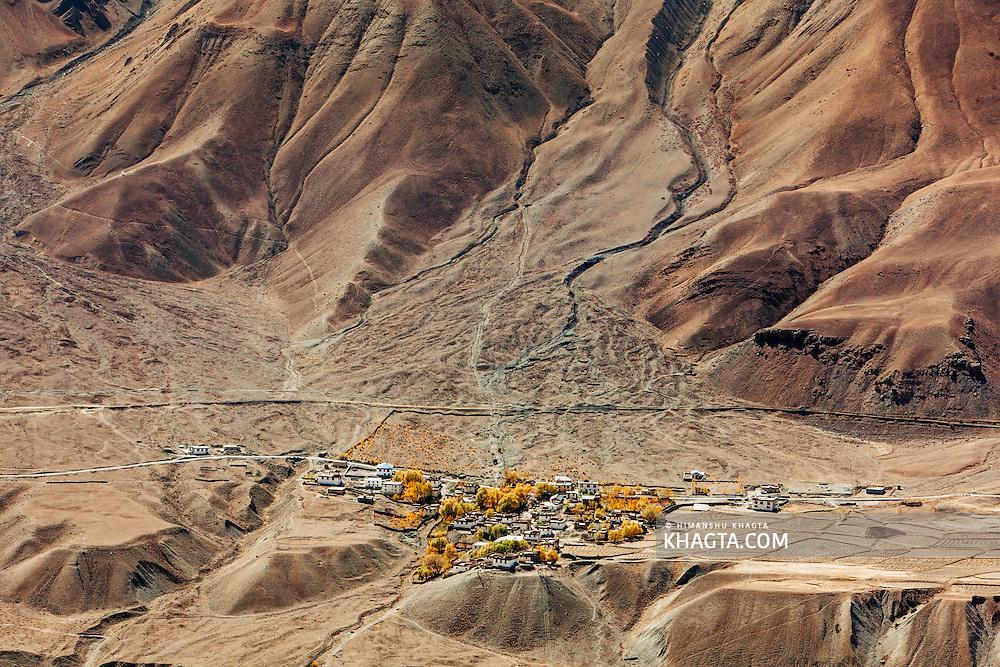 Khurik village of Spiti, Himachal Pradesh, India