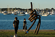 "Newport, RI Sept. 2010 - Public art on dispay during the ""Viewport"" event in King Park on Newport Harbor held by public art organization Project One."