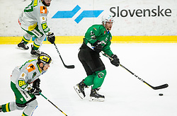 Ales Music of SZ Olimpija during Ice Hockey match between HK SZ Olimpija and EHC Alge Elastic Lustenau in Semifinal of Alps Hockey League 2018/19, on April 1, 2019, in Arena Tivoli, Ljubljana, Slovenia. Photo by Vid Ponikvar / Sportida