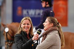Cornelissen Adelinde (NED), Van Deurzen Ine (NED)<br /> KWPN College<br /> KWPN Hengstenkeuring 's Hertogenbosch 2010<br /> © Dirk Caremans