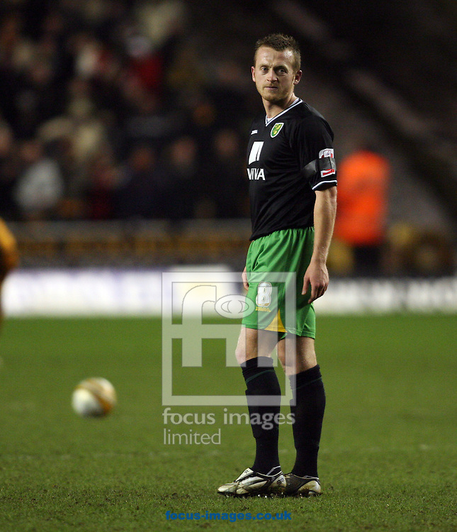 Wolverhampton - Tuesday February 3rd, 2009: Norwich City's Sammy Clingan is disappointed after one of the three goals goes in against Wolverhampton Wanderers during the Coca Cola Championship match at Molineaux, Wolverhampton. (Pic by Chris Ratcliffe/Focus Images)