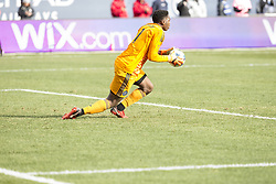 March 17, 2018 - New York, New York, United States - Sean Johnson (1) of NYC FC saves goal during regular MLS game against Orlando City SC at Yankee stadium NYC FC won 2 - 0 (Credit Image: © Lev Radin/Pacific Press via ZUMA Wire)