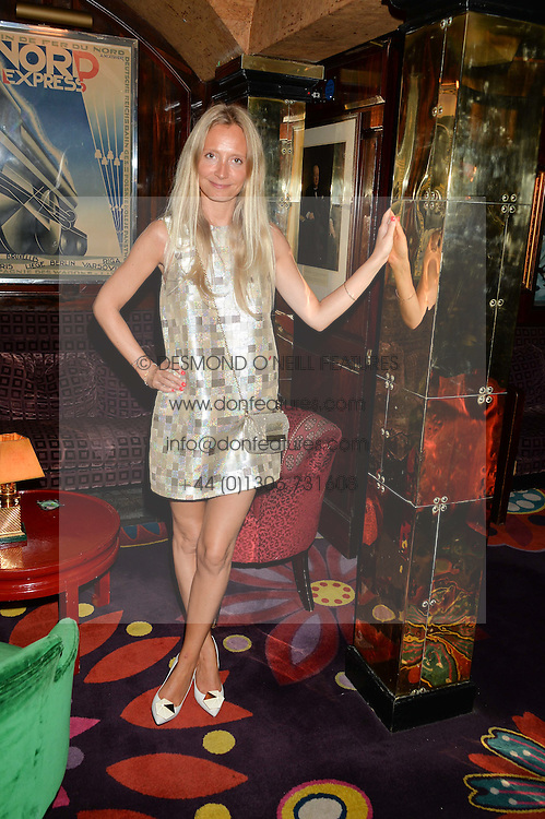 MARTHA WARD at a dinner to celebrate the launch of Genetic - Liberty Ross hosted by Liberty Ross and Ali Fatourechi at Annabel's, 44 Berkeley Square, London on 3rd September 2014.