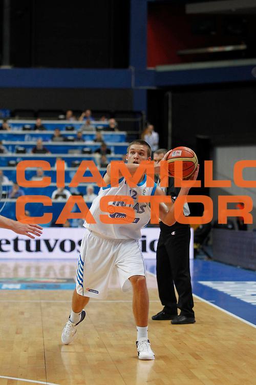DESCRIZIONE : Vilnius Lithuania Lituania Eurobasket Men 2011 Second Round Grecia Russia Greece Russia<br /> GIOCATORE : Michail Bramos<br /> SQUADRA : Grecia Greece<br /> EVENTO : Eurobasket Men 2011<br /> GARA : Grecia Russia Greece Russia<br /> DATA : 10/09/2011<br /> CATEGORIA : passaggio<br /> SPORT : Pallacanestro <br /> AUTORE : Agenzia Ciamillo-Castoria/M.Metlas<br /> Galleria : Eurobasket Men 2011<br /> Fotonotizia : Vilnius Lithuania Lituania Eurobasket Men 2011 Second Round Grecia Russia Greece Russia<br /> Predefinita :
