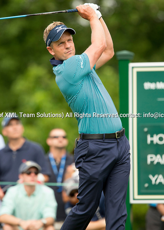 June 04 2016:  Dublin, OH, USA:  Luke Donald tees off during the Third Round of the Memorial Tournament presented by Nationwide at the Muirfield Village Golf Club. (Photo by Jason Mowry/Icon Sportwire)