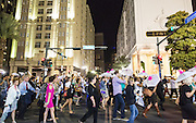 Second line parade celebrating the opening night of the 25th anniversary New Orleans Film Festival