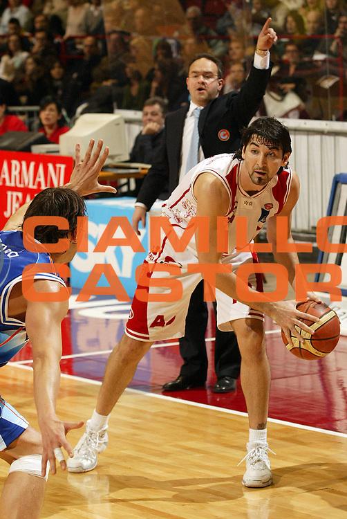 DESCRIZIONE : Milano Campionato Italiano Lega A1 2005-06 Armani Jeans Milano Vertical Vision Cantu<br /> GIOCATORE : Gigena<br /> SQUADRA : Armani Jeans Milano <br /> EVENTO : Campionato Lega A1 2005-2006<br /> GARA : Armani Jeans Milano Vertical Vision Cantu<br /> DATA : 12/02/2006<br /> CATEGORIA : Palleggio<br /> SPORT : Pallacanestro<br /> AUTORE : Agenzia Ciamillo-Castoria/E.Pozzo