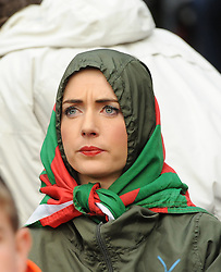 Mayo fan looking on at the action at the All Ireland final replay.<br /> Pic Conor McKeown