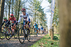 Nicole Hanselmann takes on the Drenthe cobbles - Ronde van Drenthe 2016, a 138km road race starting and finishing in Hoogeveen, on March 12, 2016 in Drenthe, Netherlands.