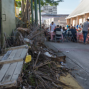 NOVEMBER 23 - Cata&ntilde;o, PUERTO RICO - <br /> Thanksgiving breakfast outside the Iglesia Lutheran del Divino Salvador in Cata&ntilde;o. Church members and residents of Cata&ntilde;o enjoyed an early morning meal outside the Hurricane Maria damaged church.<br /> (Photo by Angel Valentin/FREELANCE)