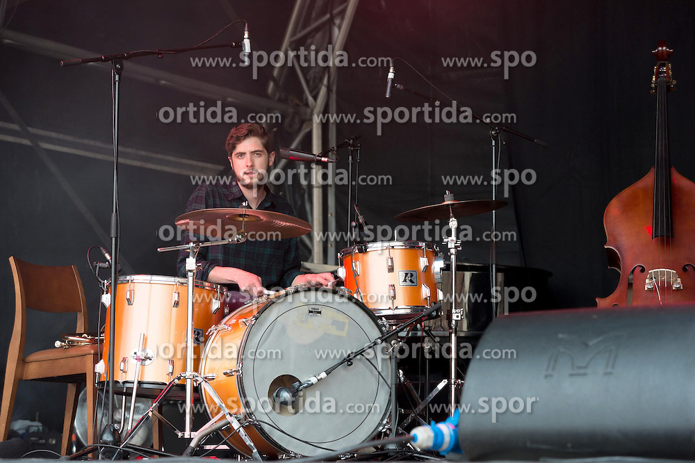 Irish indie folk band from Dublin - Villagers - Gwion Llewelyn (drums), performing live in concert for the concert series, LIVE AT CHELSEA at the The Royal Hospital Chelsea, London, United Kingdom, Date: 12/06/2015. EXPA Pictures &copy; 2015, PhotoCredit: EXPA/ Photoshot/ Tim Holt<br /> <br /> *****ATTENTION - for AUT, SLO, CRO, SRB, BIH, MAZ only*****