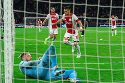 13-08-2019 NED: UEFA Champions League AFC Ajax - Paok Saloniki, Amsterdam<br />  Ajax won 3-2 and they will meet APOEL in the battle for a group stage spot / Dusan Tadic #10 of Ajax scores 3-1