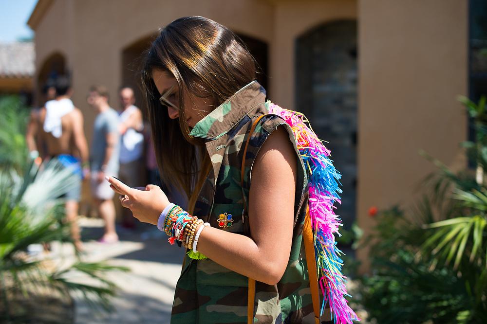 Krischa Batarse at the Nylon Coachella Party 2015