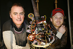 ROCKCHIC<br /><br />Pictured at the opening of the RockChic exhibition at the National Museum of Ireland Collins Barracks on 23rd November 2006  were DJ Dave Fanning and Artist Rasher<br /><br />Commissioned by the National Museum of Ireland *** Local Caption *** It is important to note that under the COPYRIGHT AND RELATED RIGHTS ACT 2000 the copyright of these photographs are the property of the photographer and they cannot be copied, scanned, reproduced or electronically stored in any form whatsoever without the written permission of the photographer