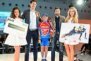Uitreiking Sportprijs Utrecht 2014 at Jaarbeurs Utrecht: (L-R) Niels Kerstholt (met beker) na het winnen van de uitverkiezing van de sportman van het jaar 2014 uit Utrecht