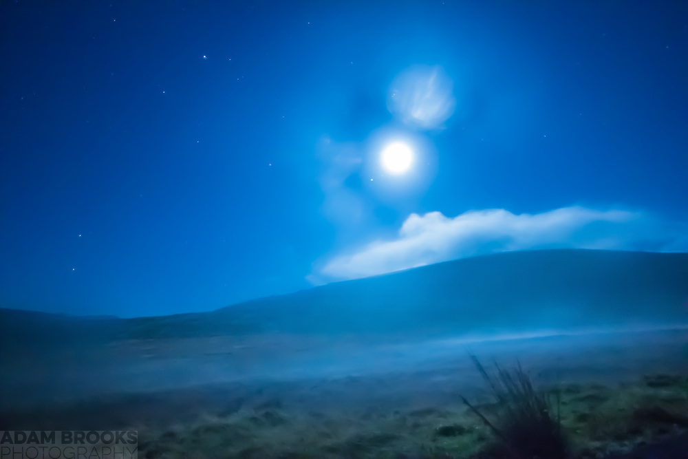 A Misty moonlit Scene at Spelga Reservoir