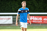 Forest Green Rovers Christian Doidge(9) warming up during the Pre-Season Friendly match between Shortwood United and Forest Green Rovers at Meadowbank Ground, Nailsworth, United Kingdom on 14 July 2017. Photo by Shane Healey.
