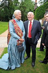 VANESSA REDGRAVE and MIKHAIL GORBACHEV at the Raisa Gorbachev Foundation fourth annual fundraising gala dinner held at Stud House, Hampton Court, Surrey on 6th June 2009.
