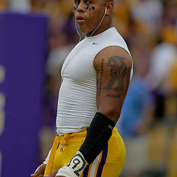 19 September 2009: LSU Tigers defensive end Rahim Alem in warm ups before the start of a 31-3 win by the LSU Tigers over the University of Louisiana-Lafayette Ragin Cajuns at Tiger Stadium in Baton Rouge, Louisiana.