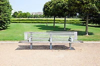 Wooden bench in London Park