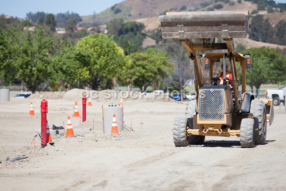 Construction Worker Running a Bulldozer