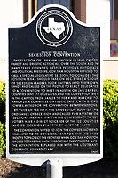 Confederate History Plaque at Texas Capitol