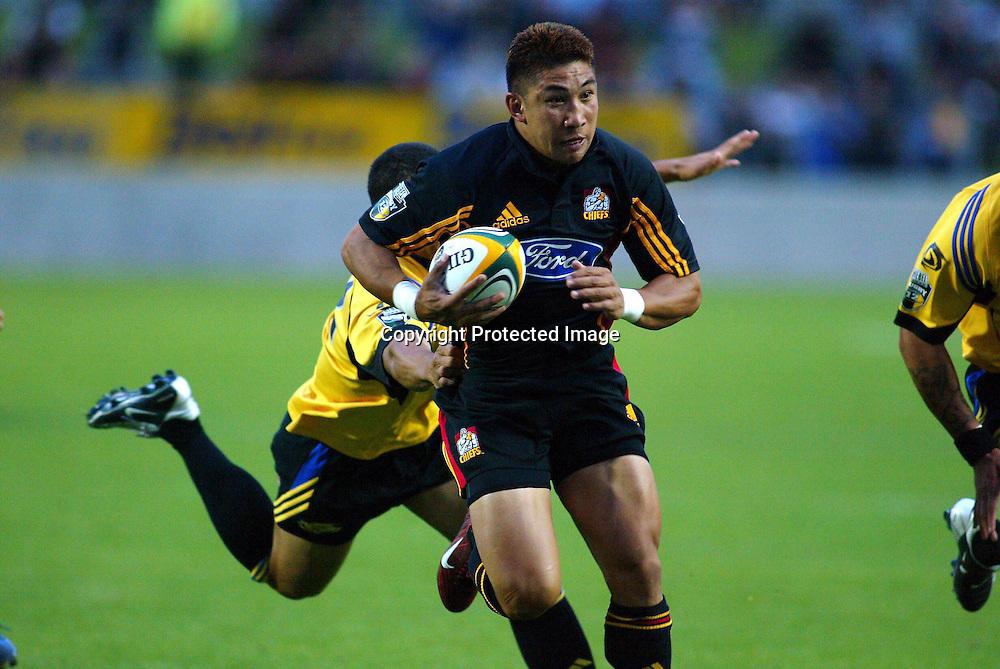 20th February, 2004. Westpac Stadium, Hamilton, New Zealand. Rugby Union Super 12. Chiefs v Hurricanes.<br />Loki Crichton.<br />The Chiefs won the match, 19 - 7.<br />Pic: Chris Skelton/Photosport
